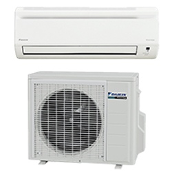 Ductless heating and cooling devices