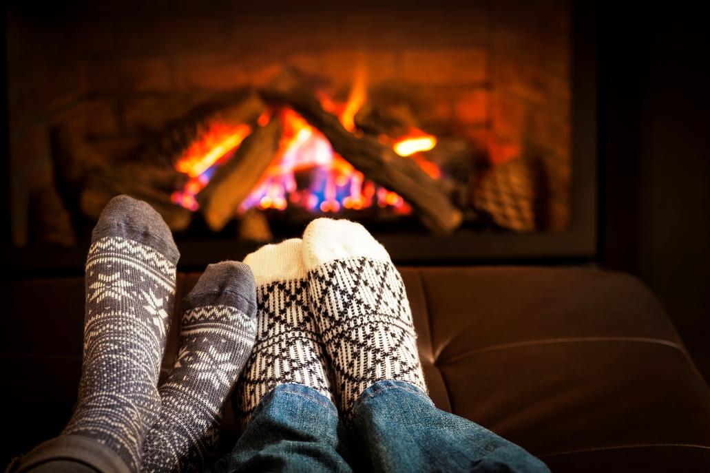 Install Fireplace Winter